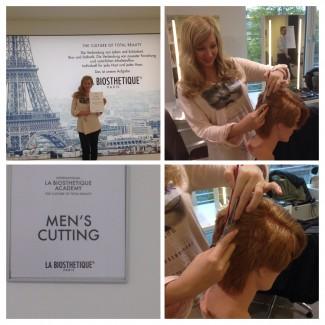 Nadine hat erfolgreich das Männerhaarschneideseminar für Ihre Ausbildung zum hair and beauty artist absolviert
